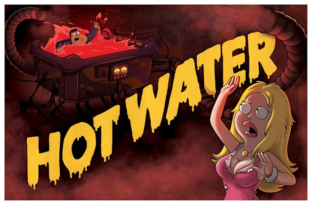 "Stressed out by his family and his obligations, Stan decides to buy a hot tub to relieve his stress, but gets into hot water when he finds out the hot tub is evil in the ""Hot Water"" season premiere ep"