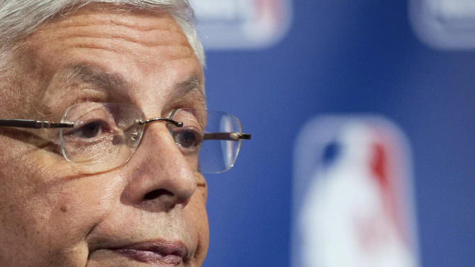 "FILE - In this Nov. 10, 2011 file photo, NBA commissioner David Stern speaks during a news conference in New York. The NBA is entering a season Stern calls ""nuclear winter."" The players have rejected the league's latest proposal and begun disbanding their union in preparation for going to court.  (AP Photo/John Minchillo, File)"