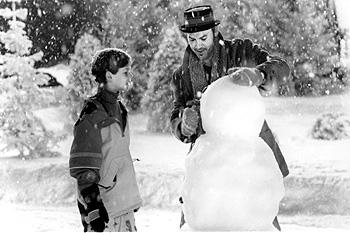 Joseph Cross and Michael Keaton in Warner Brothers' Jack Frost
