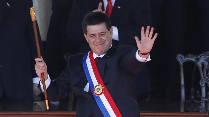 Paraguay's new president woos foreign investment