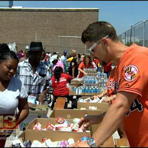 Orioles, Maryland Food Bank Donate Healthy Food To W. Baltimore Pantry