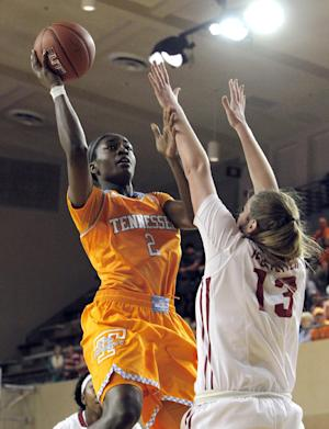 Burdick helps No. 10 Tennessee rally past Alabama
