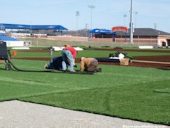 Turf construction at Console Energy Park