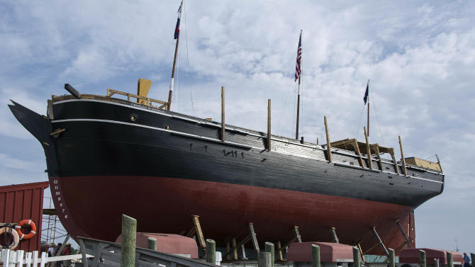 Whaling ship launching in Conn. after $7M overhaul