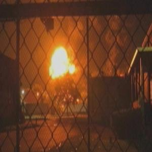 Raw: Massive Factory Fire in Connecticut