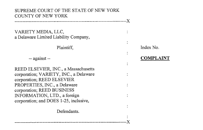 Jay Penske Sues Former Variety Owner Reed Elsevier for $10 Million