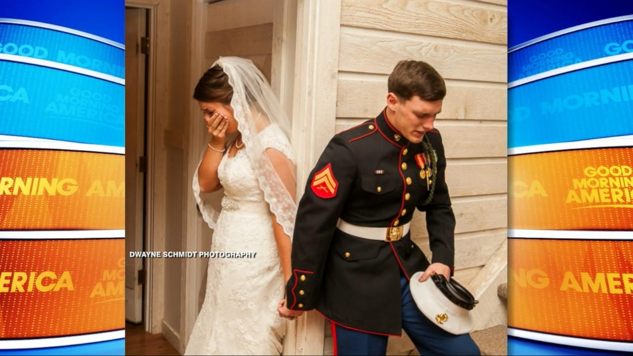The Story Behind the Memorial Day Wedding Photo Gone Viral