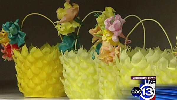Volunteers pour love into special Easter baskets