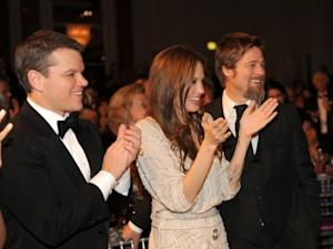 Matt Damon, Angelina Jolie, and Brad Pitt attend the UNICEF Ball held at the Beverly Wilshire Hotel in Beverly Hills, Calif. on December 10, 2009  -- WireImage
