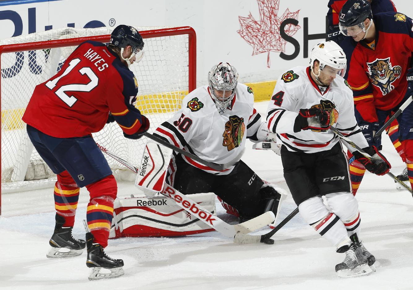 Crawford stops 20 shots for 3-0 win over Panthers