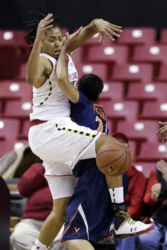 No. 9 Maryland women beat Virginia 79-55