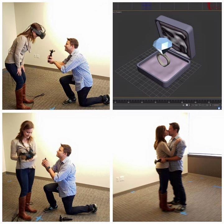 A man proposed to his girlfriend using virtual reality