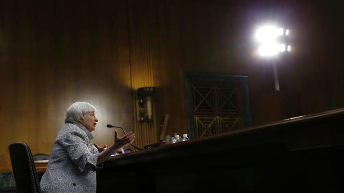 U.S. Federal Reserve Chair Yellen testifies before the Senate Banking Committee on Capitol Hill in Washington
