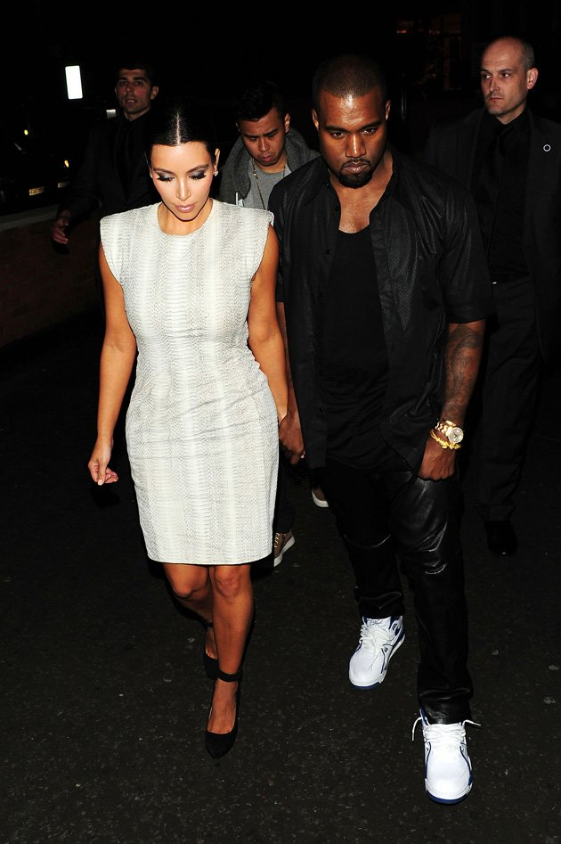 Kim Kardashian, Kanye West, London