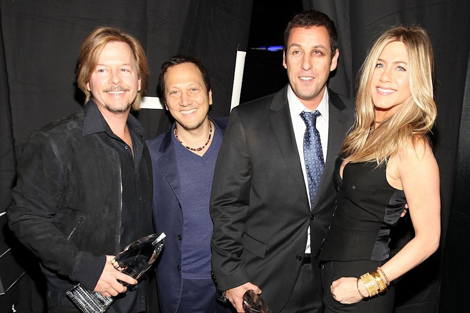2011 People's Choice Awards David Spade Rob Schneider Adam Sandler Jennifer Aniston