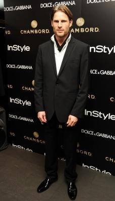 Noah Huntley attends the InStyle and Dolce & Gabbana party to celebrate the iconic glamour of Dolce & Gabbana at Dolce & Gabbana Old Bond Street, London, on November 3, 2010 -- Getty Premium