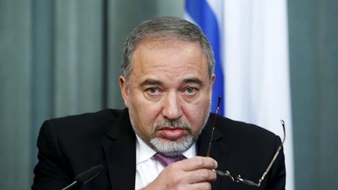 File photo of Israeli Foreign Minister Avigdor Lieberman in Moscow