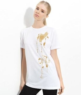 Alexander Wang's t-shirt for Starbucks. Photo courtesy of Nordstrom