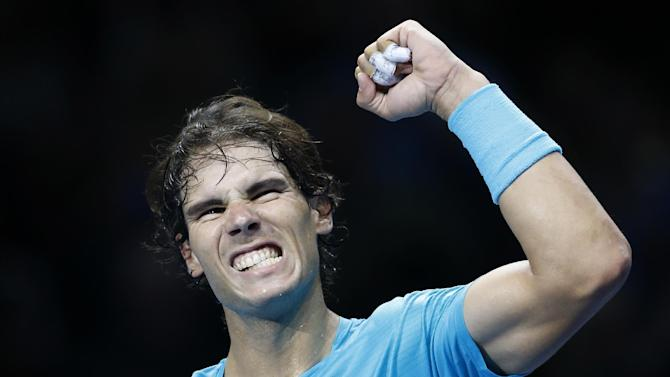 Nadal tops Ferrer in straight sets at ATP Finals