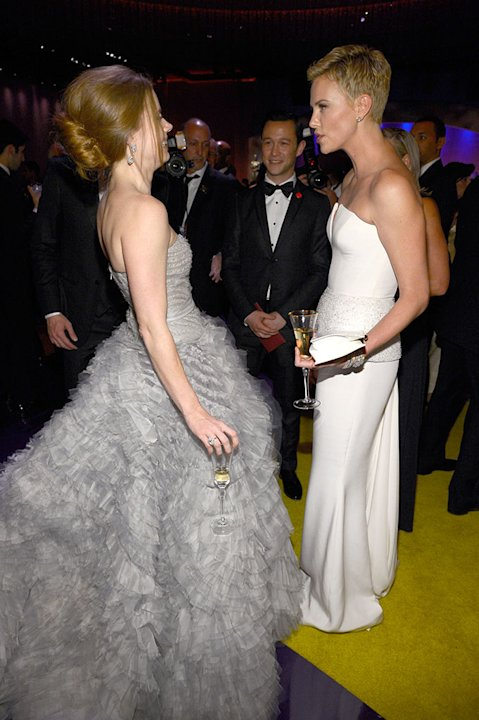 85th Annual Academy Awards - Governors Ball: Amy Adams, Joseph Gordon-Levitt,  and Charlize Theron