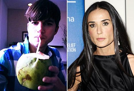 Ashton Kutcher Partying in Brazil, Tweets Amid Demi's Breakdown