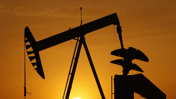 FILE - In this March 22, 2012 file photo, a pumpjack is silhouetted against the setting sun in Oklahoma City. Americans depend on energy for everything from driving their cars to powering factories, homes and offices _ and of course our smart phones, laptops and tablets. How that energy is produced and where it comes from affect jobs, the economy and the environment. (AP Photo/Sue Ogrocki, File)