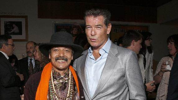 """IMAGE DISTRIBUTED FOR SONY PICTURES CLASSICS - Romeo Shresta and Pierce Brosnan attend the premiere Of Sony Picture Classics' """"Love Is All You Need"""", on Thursday, April, 25, 2013 in Hollywood, California. (Photo by Todd Williamson/Invision for Sony Pictures Classics/AP Images)"""
