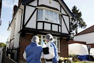 British forensic officers conduct investigations at the home of a British family murdered in the French Alps, as autopsies revealed each of the four victims was shot twice in the head