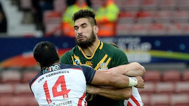 James Tamou - ready for a physical battle