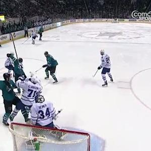 Wingels delivers huge hit before he scores