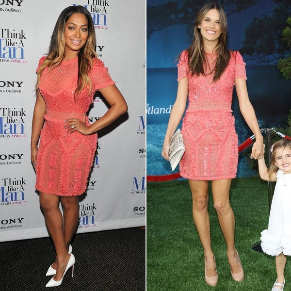 Alessandra Ambrosio V. LaLa Anthony: Who Looked Cuter In Coral?