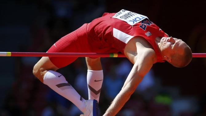 Williams of the U.S.competes in men's high jump qualification at 15th IAAF World Championships in Beijing