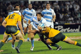 Los Pumas cayeron por 25 a 19 ante los Wallabies en la &#xFA;ltima fecha del RCH 2012. (Foto: T&#xE9;lam)