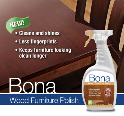 Bona®US Launches Bona Wood Furniture Polish; Experts in Wood for More Than 90 Years Develop Innovative Waterborne, Fingerprint Resistant Furniture Polish