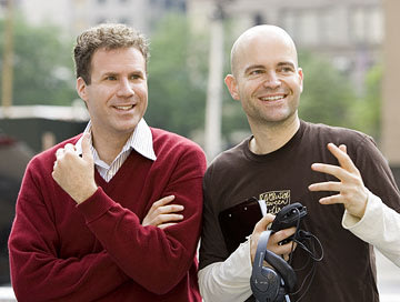 Will Ferrell and director Marc Forster on the set of Columbia's Stranger Than Fiction