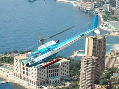 helicopter in monaco