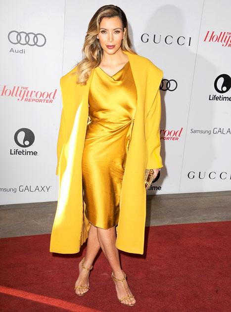 Kim Kardashian Wows in Yellow Ensemble, Attends Hollywood Reporter Women in Entertainment Breakfast: Pictures