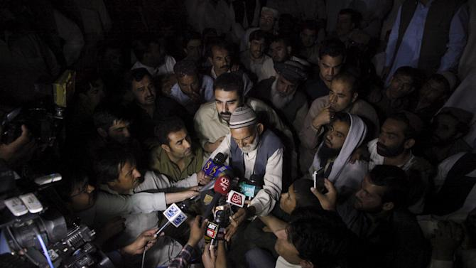 A survivor of an attack on buses describes his ordeal to the media in Quetta, Pakistan,