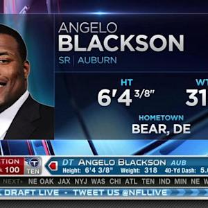 Tennessee Titans pick defensive tackle Angelo Blackson No. 100 in the 2015 NFL Draft