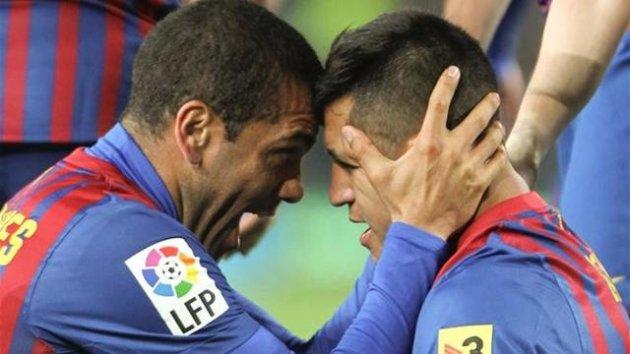 Dani Alves Alexis Sánchez Barcelona Betis Liga 2012