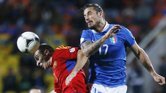2012, Pablo Daniel Osvaldo, Armenia - Italia, Ap/LaPresse