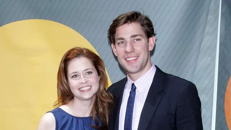 Jenna Fischer and John Krasinski at the NBC 2007 Upfronts.