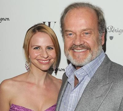 Kelsey Grammer and Kayte Walsh arrive at the W Magazine Best Performances Issue and The Golden Globes celebration hosted by Dom Perignon and W Magazine held at Chateau Marmont in Los Angeles on January 13, 2012  -- Getty Images