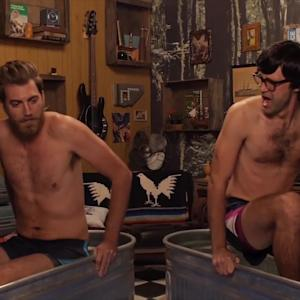 Rhett and Link Do Insane Ice Bath Challenge | What's Trending Now