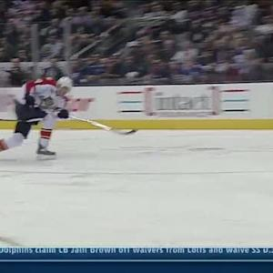 Fleischmann goes top-shelf on breakaway