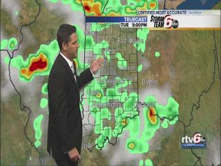 Tuesday Forecast: Storms flare up in the afternoon