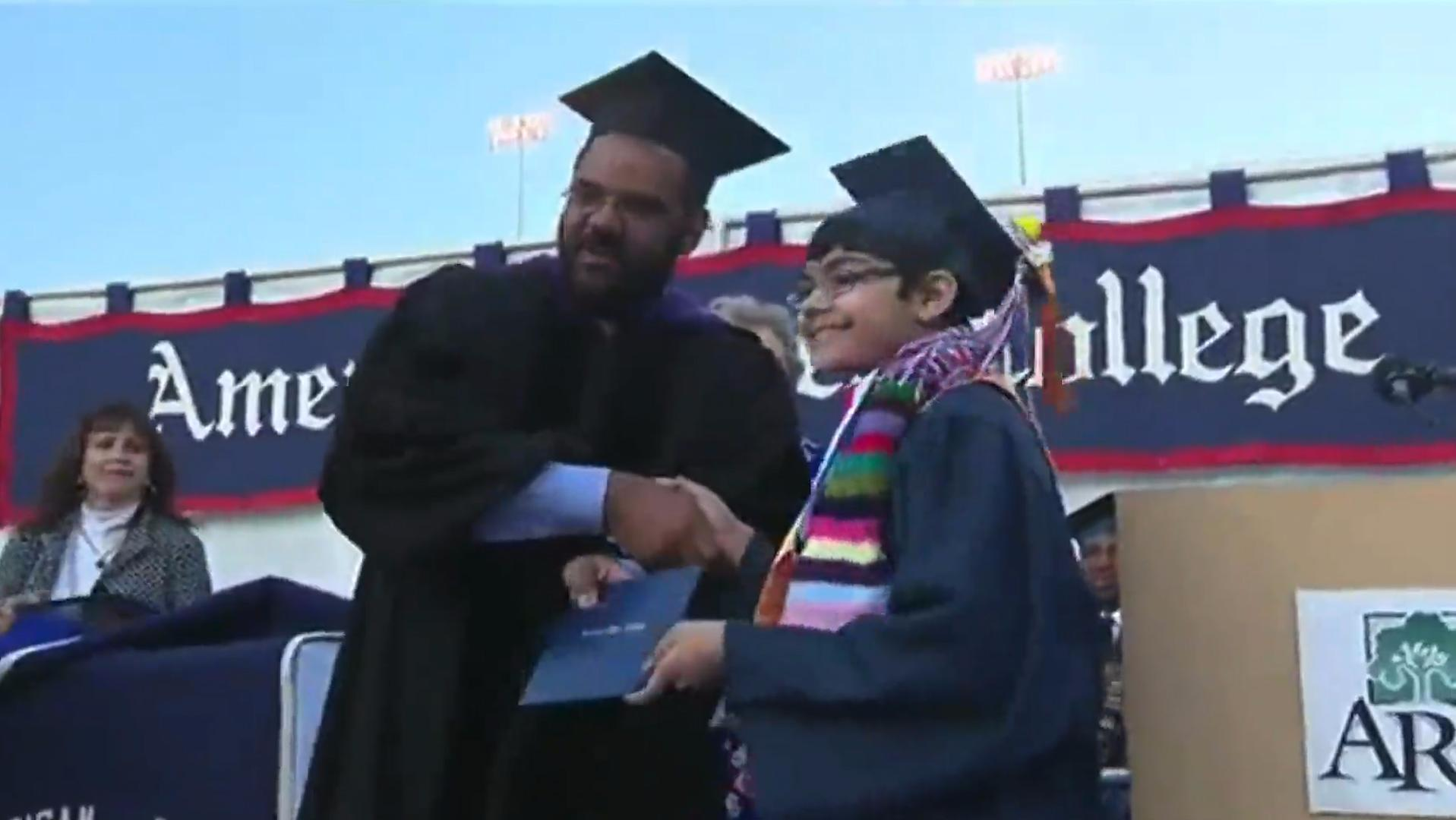 Eleven year-old earns three degrees one year after finishing high school