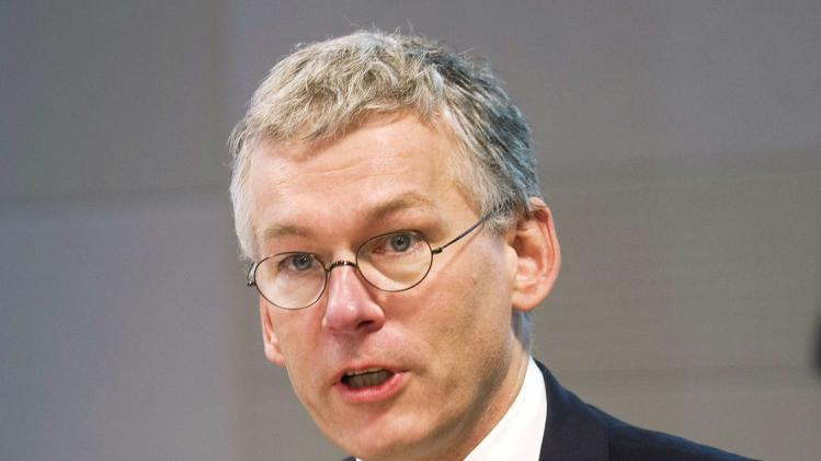 File photo of Philips Chief Executive Frans van Houten speaking during the presentation of the 2012 full-year results in Amsterdam