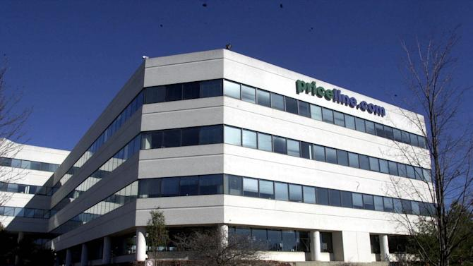 FILE - In this Thursday, Nov. 2, 2000, file photo, Priceline.com headquarters is shown, in Norwalk, Conn. Priceline is buying online restaurant reservation company OpenTable for $2.6 billion. The deal should help Priceline, the online travel company, branch out into a new business segment. (AP Photo/Douglas Healey, File)