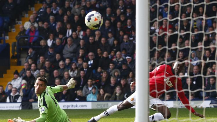Welbeck scores goal past West Bromwich Albion's Foster during their English Premier League soccer match at The Hawthorns in West Bromwich
